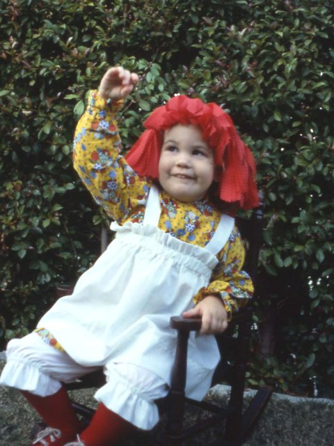 Peyton as Raggedy Ann, 1978