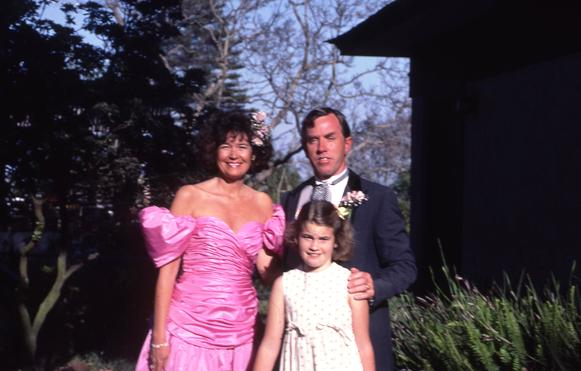 Before the San Diego Yacht Club Centennial Ball, 1985