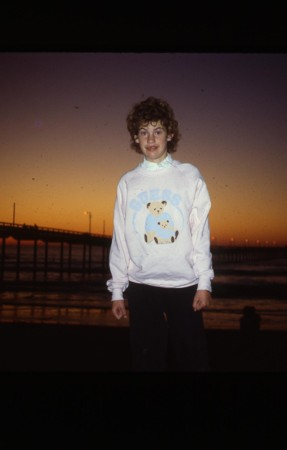 Peyton, 14, sunset at Ocean Beach