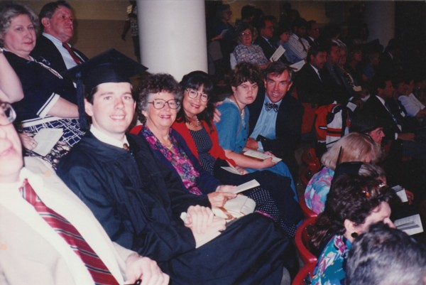 The Goddard Family at Patrick's Graduation in 1993